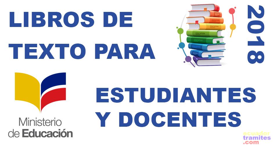 libros para docentes y estudiantes 2018