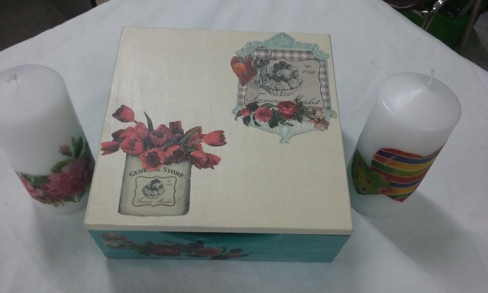 El rinc n de carmen y sus manualidades caja de madera - Manualidades con caja de madera ...