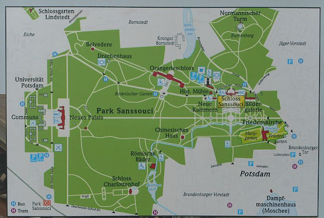 mapa Parque Sanssouci, Potsdam
