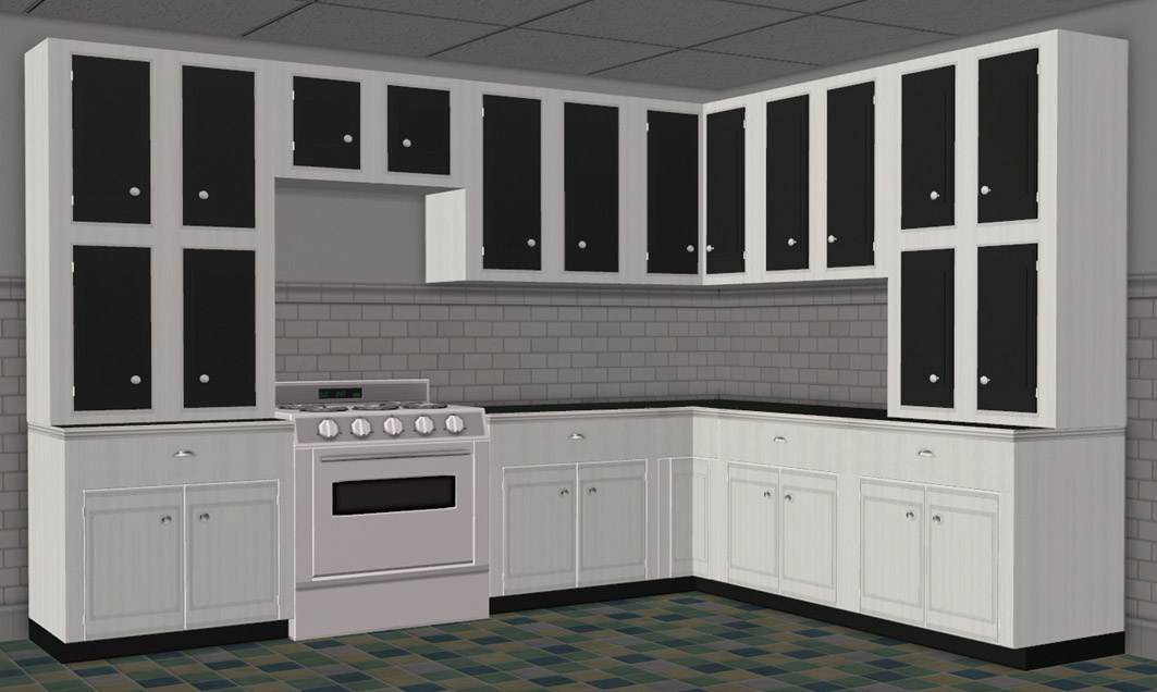 Moar Stuff For About The Sims Retro Kitchen Add Ons 2 More Cabinets