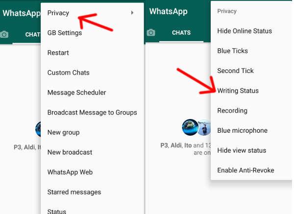 hapus status sedang mengetik di whatsapp