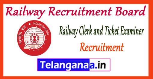 RRB Railway Recruitment Board Clerk Ticket Examiner Recruitment 2017 Application