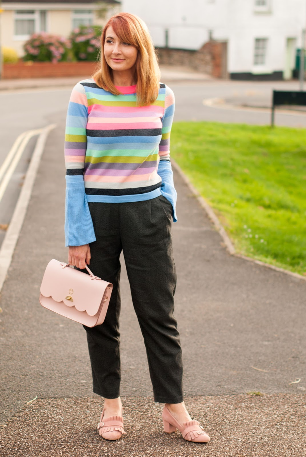 "A Multicoloured Stripe Sweater in My ""Wrong"" Colours #iwillwearwhatilike"