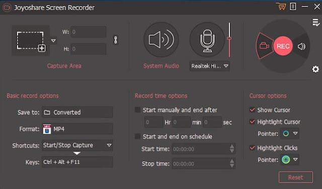 برنامج Joyoshare Screen Recorder لتصوير سطح المكتب صوت وصورة