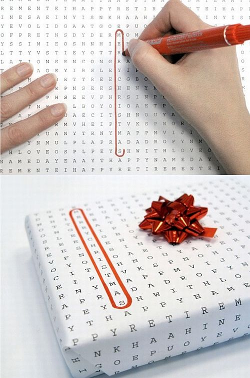 find a word paper gift wrapping