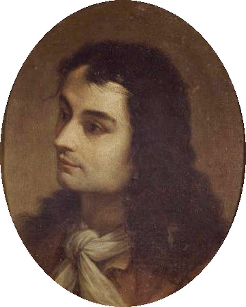 Gregorio Lazzarini, Self Portrait, Portraits of Painters, Fine arts, portraits of painters blog, Paintings of Gregorio Lazzarini, Painter Gregorio Lazzarini