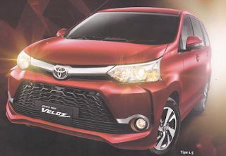 Brosur mobil Toyota All New Veloz di jakarta 2016