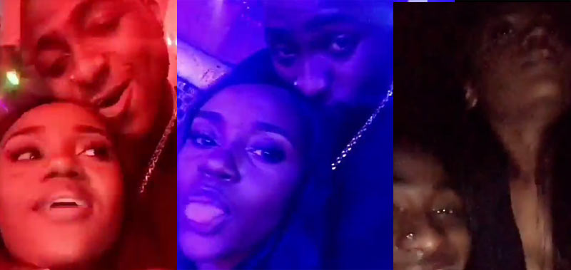 Davido and his USA-based girlfriend put on romantic display