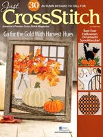 FIND BLUE RIBBON DESIGNS IN THE JUST CROSSSTITCH OCT 2016 ISSUE (Halloween Ornament Spooktacular)