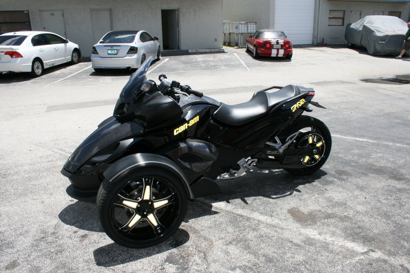 Fort Lauderdale Can Am Spyder Motorcycle Carbon Fiber And