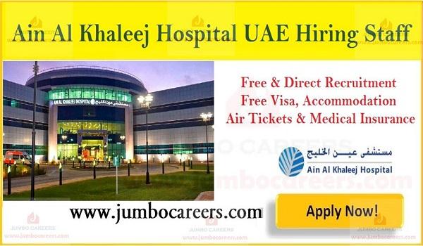 Nurses Doctors Technicians vacancies in UAE 2019, Recent jobs in Dubai,