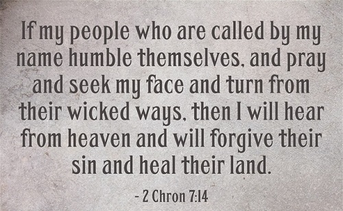 Bible verse of the day: 2 chronicles 7:14