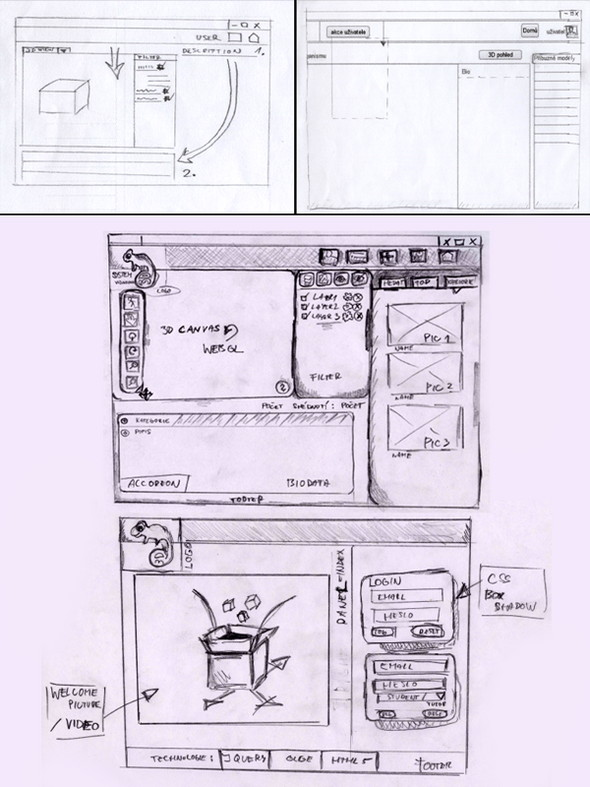 GUI Design With Sketches