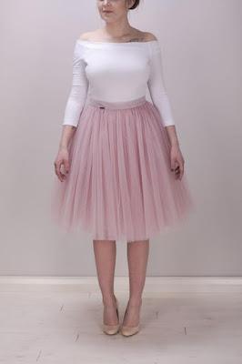 tiulowa spódniczka rose quartz kolor roku 2016 moda na lato ślub wesele