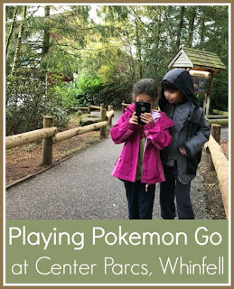 Playing Pokemon Go at Center Parcs Whinfell Forest