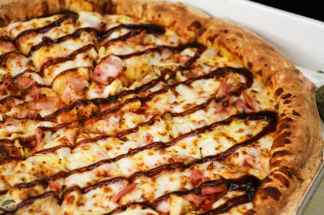 Chicken Barbecue (BBQ) Pizza of Papa John's - Sweet and Smoky
