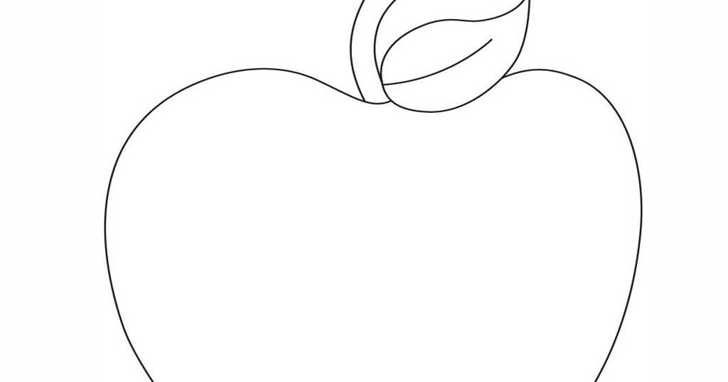 Mewarnai Gambar Buah Apel O Warna