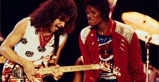 Eddie Van Halen con Michael Jackson