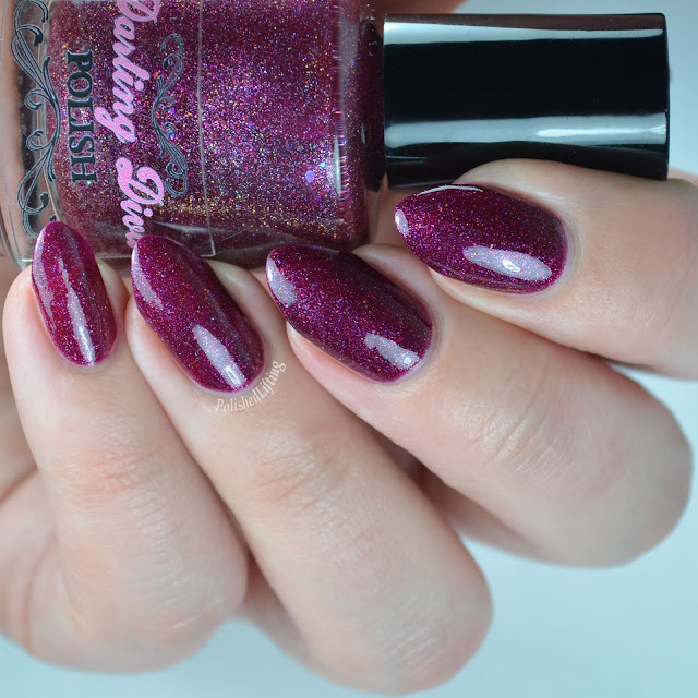 Wine colored nail polish
