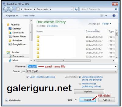 Tips Cara Merubah File Word Kedalam File PDF1