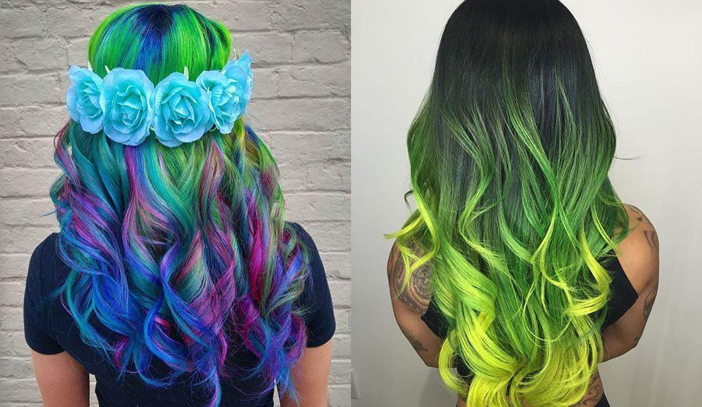 neonowe włosy