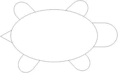 Early play templates for Tortoise mask template