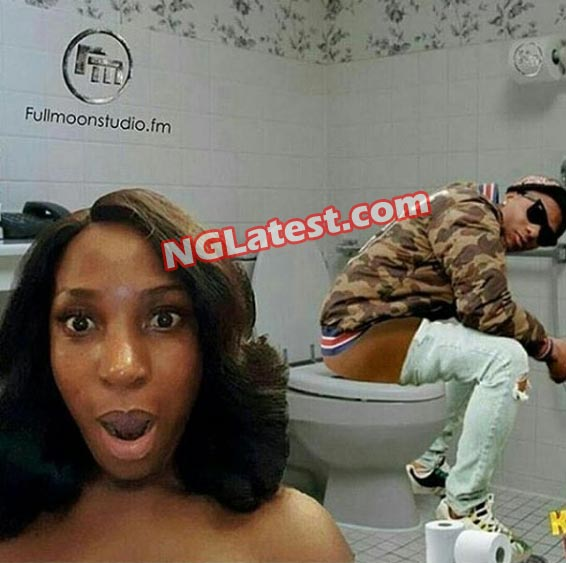 Dafuq? Someone just did this to Linda Ikeji and Wizkid in a damning Photoshop