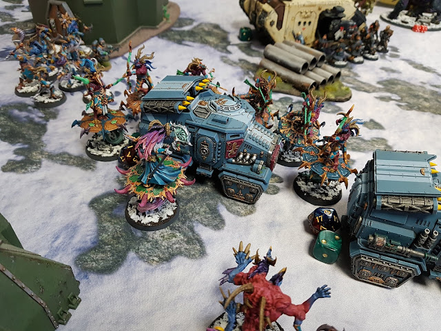 Warhammer 40k battle report - Crucible of War - The Convoy - 120 Power Level - Dark Angels and Militarum Tempestus vs Thousand Sons.