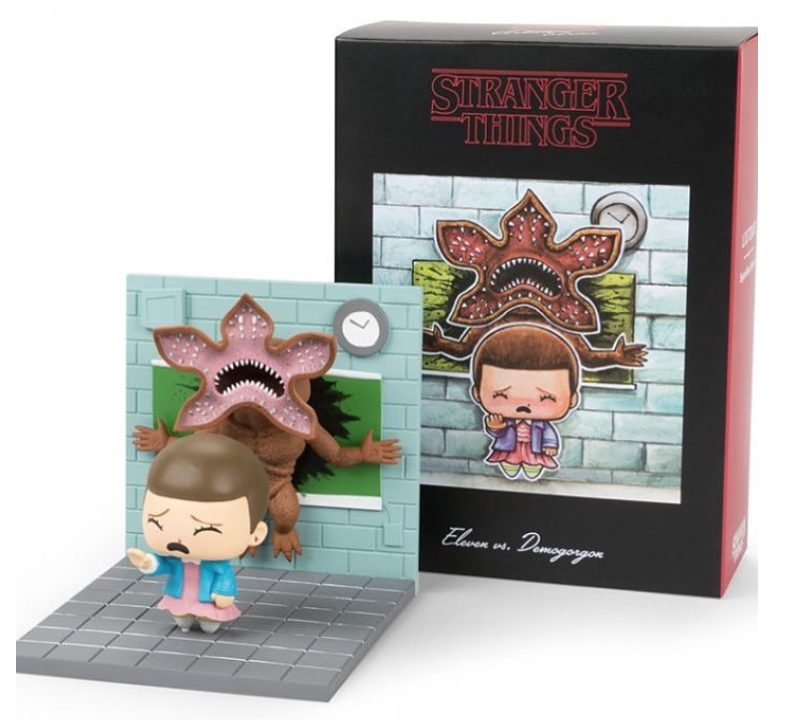 "53429d92b4f SuperEmoFriends Eleven + Demogorgon ""Stranger Things"" diorama in October s  Loot Crate"
