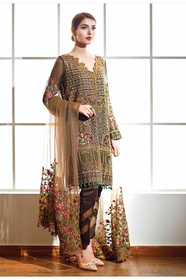 Spring Collection Pakistani Lawn original 2018 Summer Nishat Linen 3-pc Suit