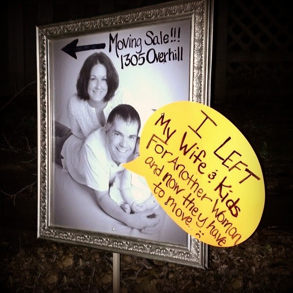 GARAGE SALE SIGN-OF-THE-WEEK: Husband Shaming | Oklahoma City Craigslist Garage Sales