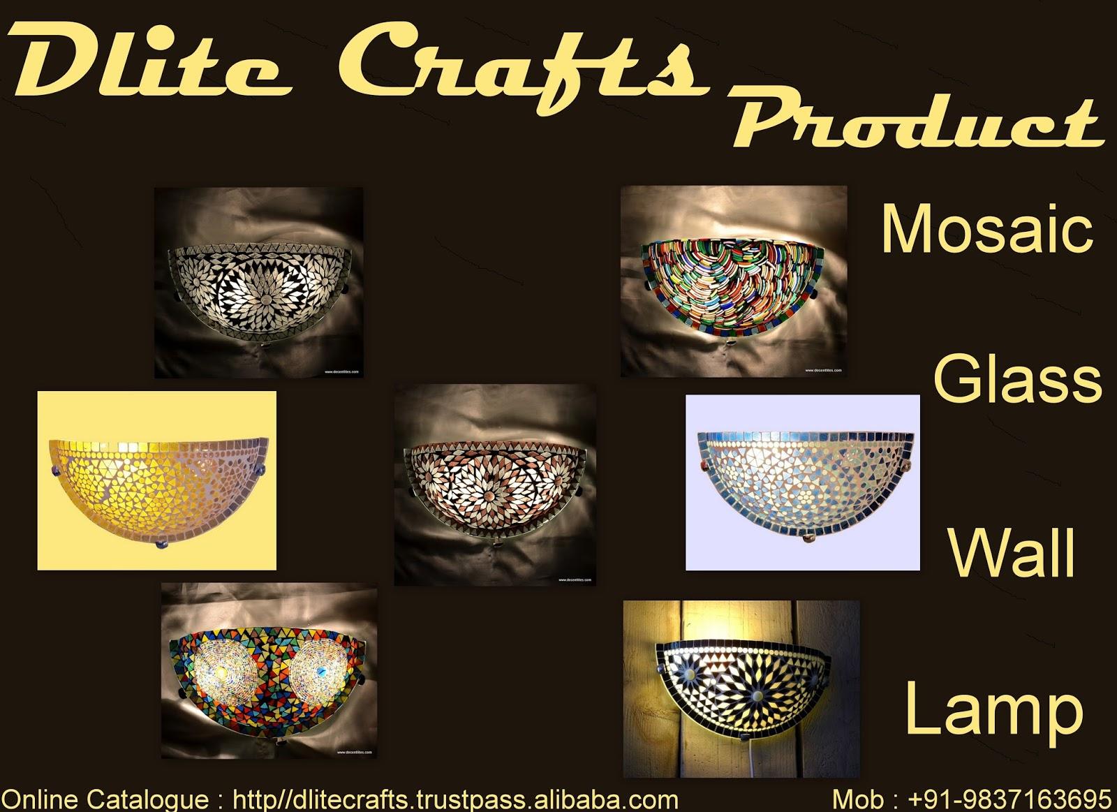 DliteCrafts: Mosaic Glass wall Lamp