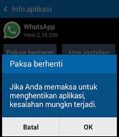 Efek Paksa berhenti aplikasi