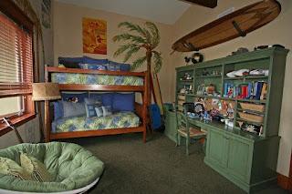 habitación temática surf