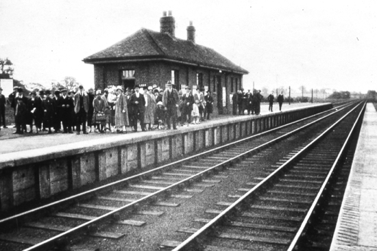 Photograph of the opening of Brookmans Park Station in 1926 Image from the NMLHS