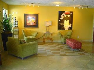 Lobby of the Ambassador Inn Lafayette
