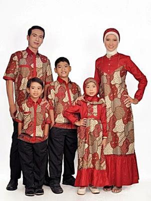 Model Busana Muslim Batik Sekeluarga