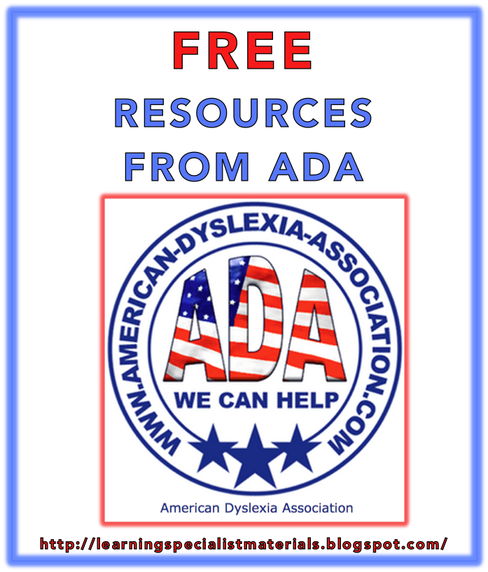 The American Dyslexia Association Offers Free Worksheets For