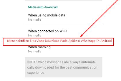 Cara Agar Aplikasi Whatsapp Tidak Mengunduh File Gambar Atau Video Secara Otomatis