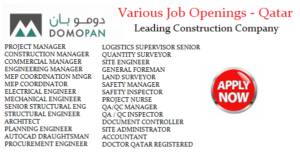 Domopan - Construction Company in Qatar Job Openings