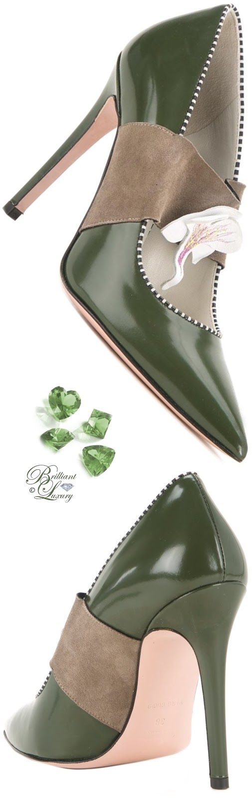 Arnaa Green Tamy Pumps #shoes #pantone #brilliantluxury