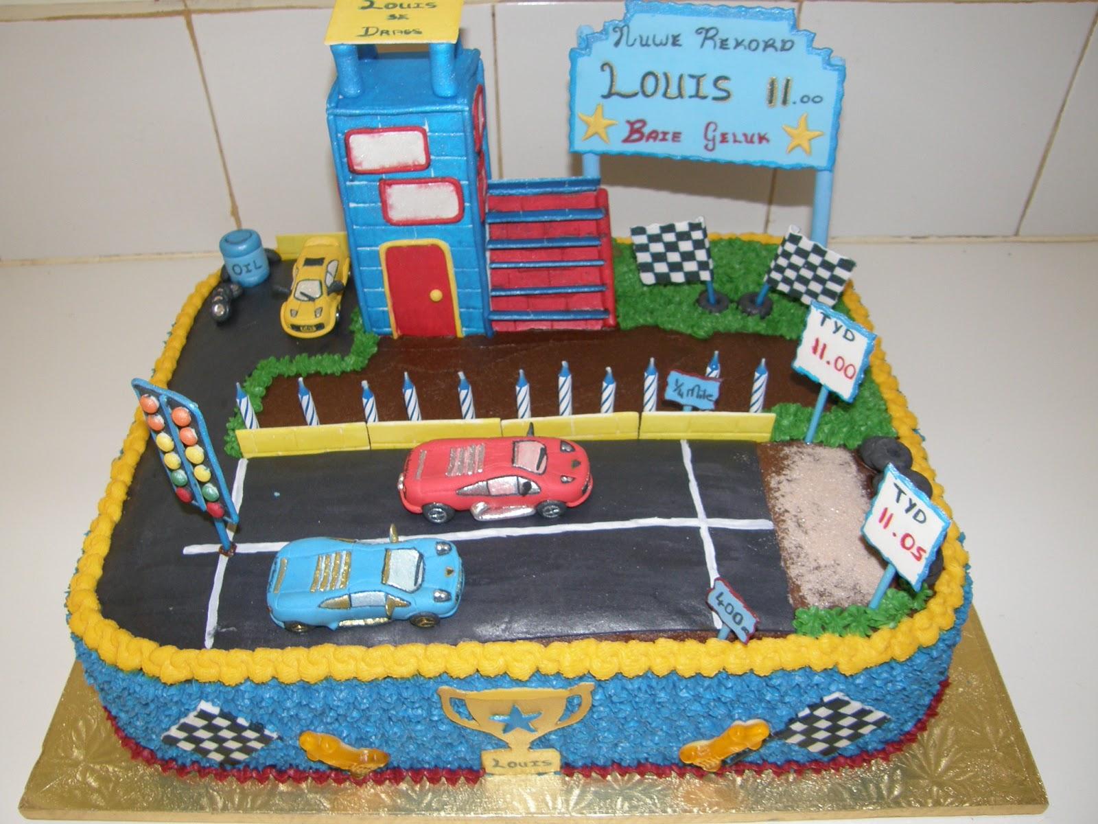 Cars Drag Strip Cake