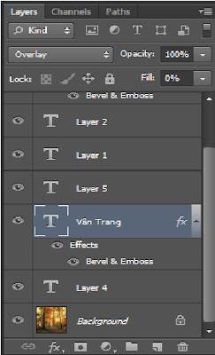 Hướng dẫn tạo chữ nổi trong Photoshop