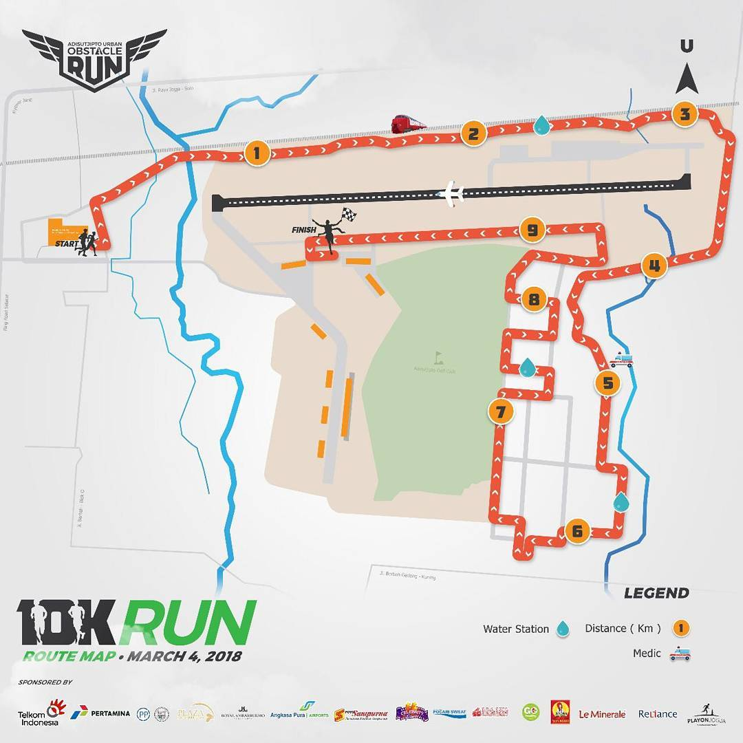 10K 👟 Adisutjipto Urban Obstacle Run • 2018 • 2021