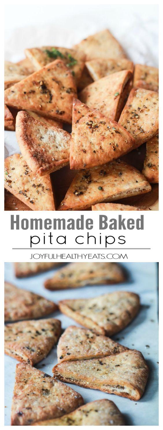 Homemade Baked Pita Chips #homemade #baked #pita #chips #healthyfood #healthyrecipes #healthysnack #snackrecipes #easysnackrecipes #