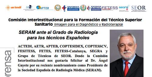 Radiological Dream: SERAM ante el Grado de Radiología para los ...