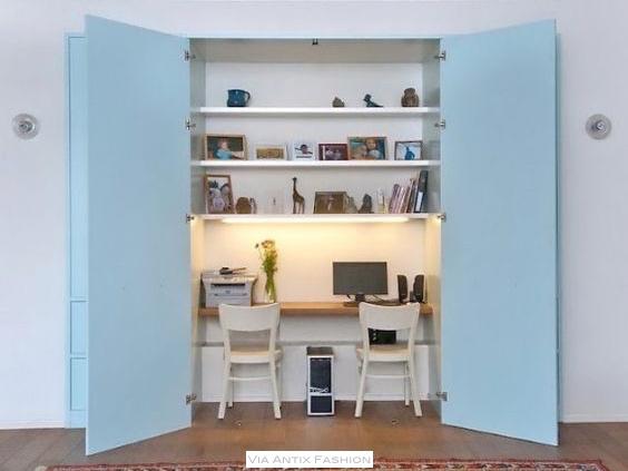 idéias para esconder um home office