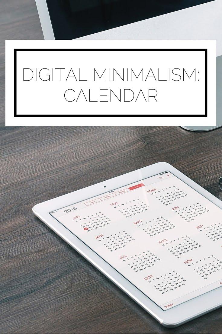 Digital Minimalism: Calendar