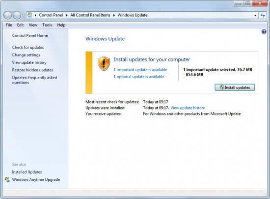 Important dan Optional Di Windows Update