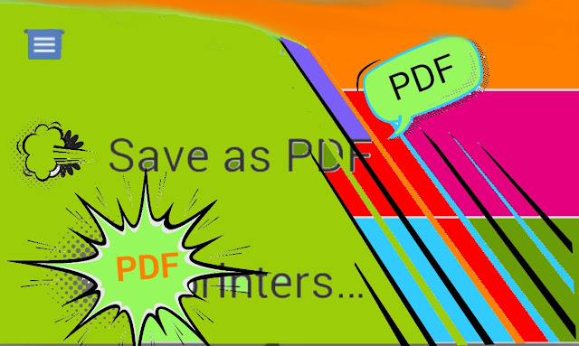Save as PDF how to